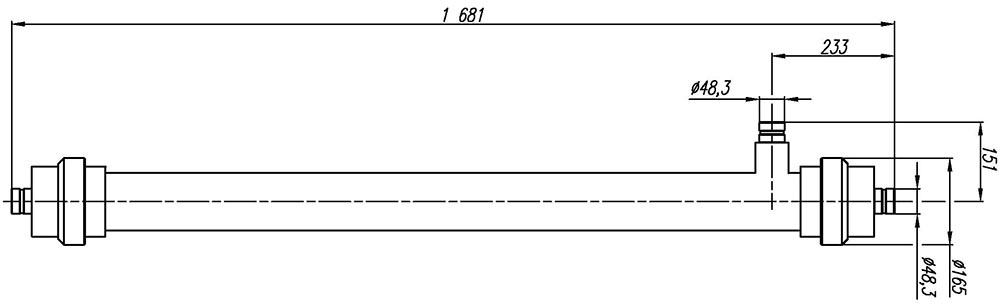Ультрафильтрационный половолоконный мембранный модуль. Типоразмер 2.