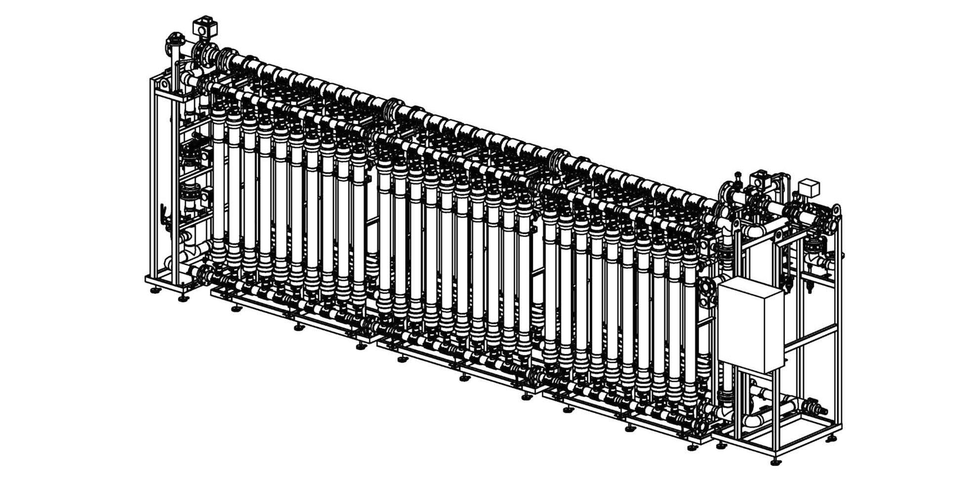 Рис. 5. Ультрафильтрационная установка.